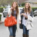 Miley Cyrus - Heads Out To Lunch With Justin Gaston In Pasadena, 2009-03-15