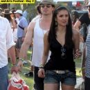 Ian Somerhalder and Nina Dobrev enjoyed the Coachella Music festival this weekend in Indio.