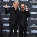 Joe Walsh and Ringo Starr attend the 30th Annual Rock And Roll Hall Of Fame Induction Ceremony at Public Hall on April 18, 2015 in Cleveland, Ohio.