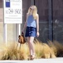 'Please Stand By' actress Dakota Fanning is spotted out and about in Beverly Hills, California on August 17, 2015