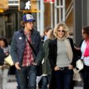 Meg Ryan and her son Jack Quaid out and about in New York City on October 04, 2015 - 400 x 600