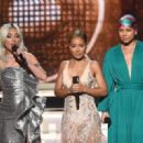 Lady Gaga, Jada Pinkett Smith, and Alicia Keys At The 61st Annual Grammy Awards - Show - 454 x 320