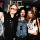 Matt Sorum & Ace Harper with Gilby & Daniella Clarke - 454 x 303