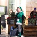 Emilia Clarke – Filming 'Last Christmas' in London
