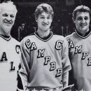 Gordie Howe, Bobby Orr & Phil Esposito at the All Star Game