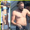 Leonardo DiCaprio Hangs Out Shirtless with Girlfriend Toni Garrn for Relaxing Yacht Afternoon (July 24)