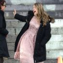 """Melissa Benoist – On the Set of """"Supergirl"""" in Vancouver 10/11/2017"""