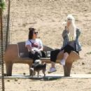 Lucy Hale – Taking her dog Elvis to a park in Los Angeles