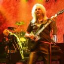 Rob Halford and Glenn Tipton of Judas Priest perform at The Pearl Concert Theater at the Palms Casino Resort on November 14, 2014 in Las Vegas, Nevada - 454 x 329