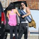 Colin Farrell & His Sister Claudine Hit Up A Yoga Class