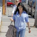 Selma Blair Leaving Urth Cafe
