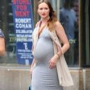 Kaylee DeFer seen out in the West Village, wearing ash grey outfit in New York City - 454 x 756