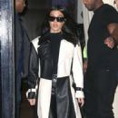 Kourtney Kardashian in Black and White Outfit – Out in New York