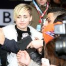 Miley Cyrus Arrives at the BBC Radio Studios