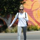 Margot Robbie at Bluestone Lane cafe in Los Angeles