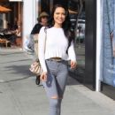 Mara Teigen in Ripped Jeans – Out in Beverly Hills - 454 x 670