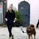 Amanda Seyfried took her dog out for a run on Saturday (January 26) in Los Angeles