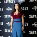 Salma Hayek at the Savages Photocall at The Oriental Mandarin