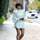 Kat Graham in Mini Dress – Out in Los Angeles