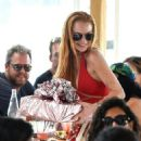 Lindsay Lohan– Out in Mykonos, Greece, 7/5/2016 - 454 x 571
