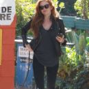 Isla Fisher In Tights At Canyon Country Store In Los Angeles