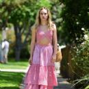 Suki Waterhouse in Pink outfit out in West Hollywood - 454 x 568