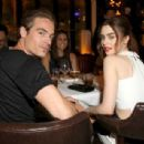 Lily Collins and Kevin Zegers at Flaunt Magazine and G-Star Raw celebrate pre-release of The Dye Issue in LA (August 13)