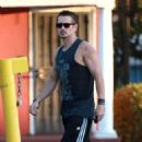 Colin Farrell making a pit stop at a local Bank of America ATM in Los Angeles, CA (August 5)