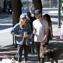 Melissa Benoist With Chris Wood on National Dog Day in Vancouver 08/26/2017 - 454 x 581