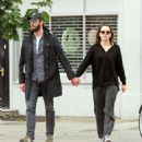 Daisy Ridley and Tom Bateman – Out in Primrose Hill - 454 x 485