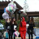 Kourtney Kardashian celebrating a friend's birthday at Lovis Restaurant in Calabasas, California on January 9, 2017 - 454 x 548