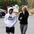 Sophie Turner and Joe Jonas – Heads to the gym in Los Angeles