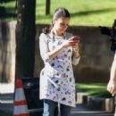 Mila Kunis on set of 'Bad Moms Christmas' in Atlanta