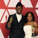 Mahershala Ali and Regina King At The 91st Annual Academy Awards - Press Room - 454 x 313