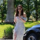Olivia Munn in Summer Dress out in Studio City
