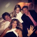 Mick Jagger, Jemima Khan and Woody Harrelson at a private party - December/2016 - 454 x 455