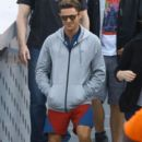 Zac Efron on the set of 'Baywatch' filming in Miami, Florida on March 07, 2016