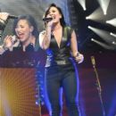 Demi Lovato performs onstage during KIIS FM's Jingle Ball 2014 powered by LINE at Staples Center on December 5, 2014 in Los Angeles, California