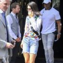 Kendall Jenner in Denim Shorts – Out in Paris