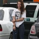 Kristen Stewart Arriving/Leaving the Gym July 18, 2012
