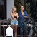 Hailey Baldwin and Justin Bieber out in Miami