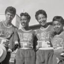 Wilma Rudolph, Lucinda Williams, Barbara Pearl Jones, Martha Hudson at the 1960 Olympics - 454 x 336