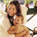 Luciana Gimenez & baby son Lucas