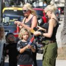 Gwen Stefani and her boys Kingston and Zuma at a Los Angeles park (August 25)