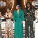Lady Gaga, Jada Pinkett Smith, Alicia Keys, Michelle Obama, and Jennifer Lopez At The 61st Annual Grammy Awards - Show - 454 x 301