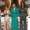 Lady Gaga, Jada Pinkett Smith, Alicia Keys, Michelle Obama, and Jennifer Lopez At The 61st Annual Grammy Awards - Show
