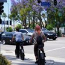 Emma Slater – Bike riding in Studio City - 454 x 303