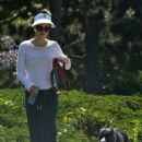 Heather Graham – With Her Dog out in Malibu