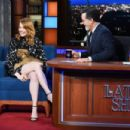 Emma Stone – Visits The Late Show With Stephen Colbert in NY - 454 x 303