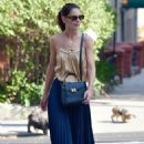 Katie Holmes in Long Skirt – Out and about in New York